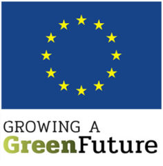 logo EU en Growing a Green Future
