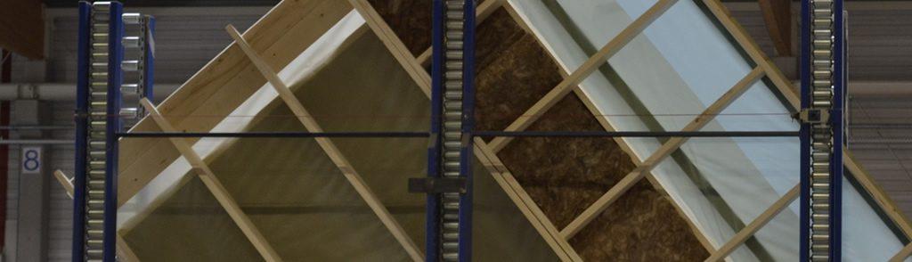 houtskeletbouw, wand met vlaswol (de Groot Vroomshoop)