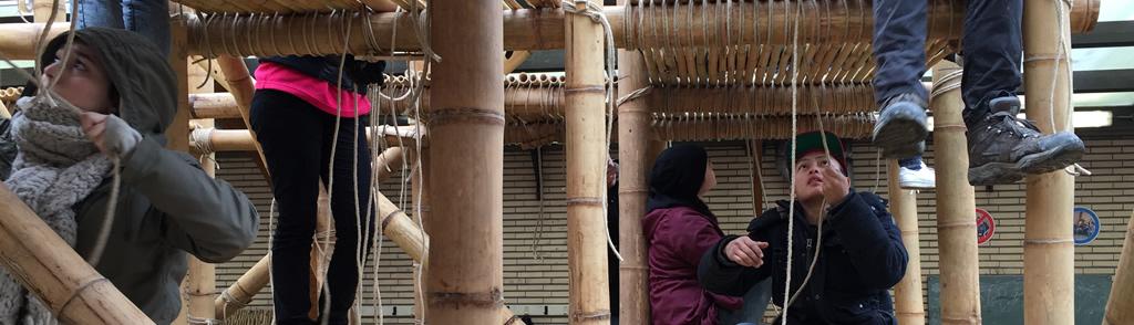 speeltoestel bouwen met bamboe