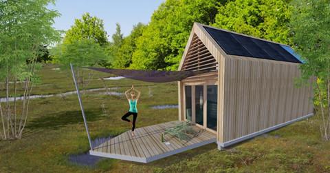 GreenHuus bouwt ecohuisjes in recreatiegebied met behulp van publiek