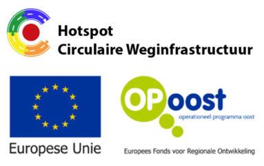 logo's Hotspot Circulaire weginfra , Europese unie en Op Oost