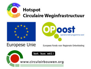 logo Hotsport circulaire Weginfrastructuur - Europese unie - Op Oost - Stichting circulair bouwen
