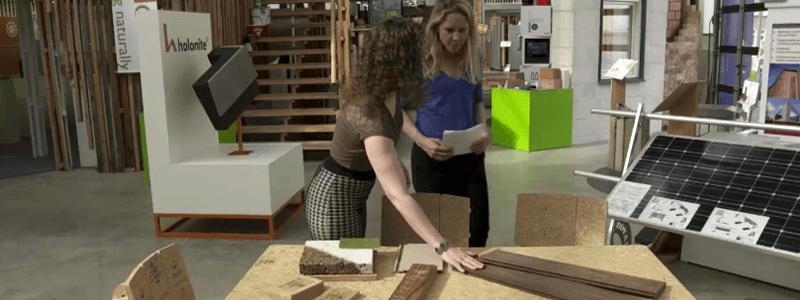 Uitleg over materialen bij IcDubo door Sissy Verspeek