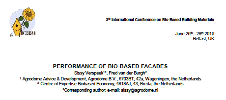 Paper : Performance of Bio-based facades