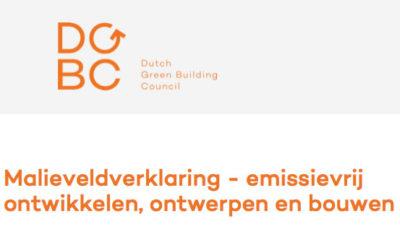 Malieveldverklaring – emissievrij ontwikkelen, ontwerpen en bouwen